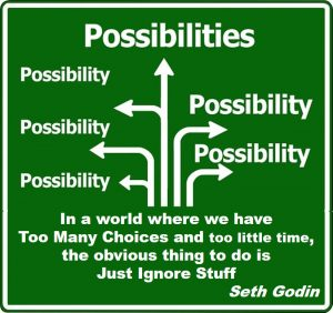 Choice overload - In a world where we have Too Many Choices and too little time, the obvious thing to do is Just Ignore Stuff Seth Godin
